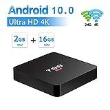 WFGZQ Android 10.0 TV-Box, [2G + 16G] Media-Player Mit Allwinner H3 Quad-Core-64-Bit-Cortex-A53 / Unterstützung WiFi 2,4G / 5,0G / Bluetooth 4,0 / 4K / HD/USB 3,0 / H.265 Smart-TV-Box Android Box