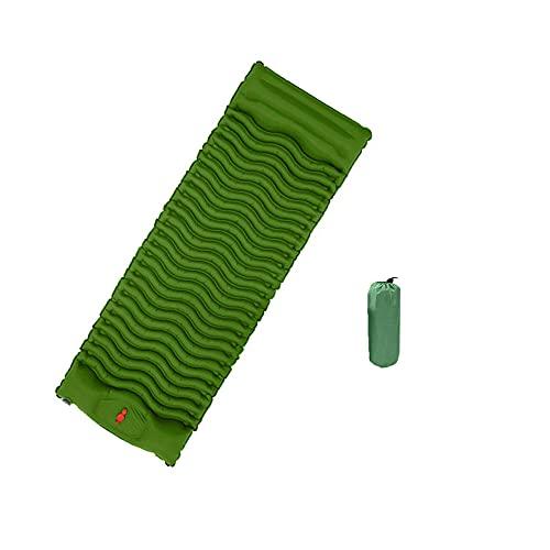 HMSLINCK Cuscino Per Dormire Da Campeggio - Cuscino Gonfiabile Ultraleggero Con Cuscino Portatile E Comodo Per Tenda, Escursioni E Trekking (188cm X 61cm) - Army Green