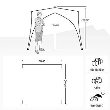 Qeedo Quick Coast tente de plage, construction rapide (Quick-Up-System), protection solaire UV80 - bleu