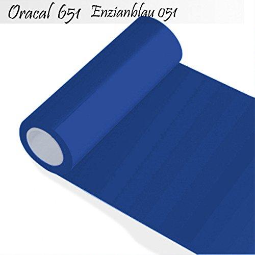 INDIGOS Oracal 651 Orafol glänzend, für Küchenschränke und Dekoration, Autobeschriftung, Schutzfolie Folie 5 m, Breite 50 cm, Farbe 51, enzianblau, ORACAL651-1-5mx50-51