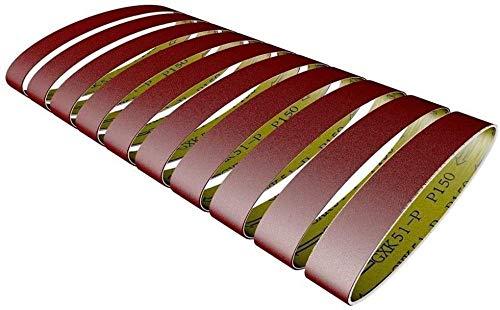 10 Piezas 528 * 30 mm Cintas de Lijado 60-600 Reemplazo de Pulido y Pulido de Grano para Amoladora Angular (Tamaño: 60)-120 Evolutions