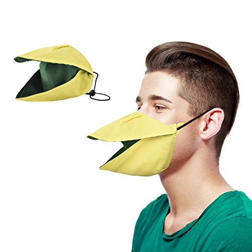 Koippimel 1Pc, Funny Face_Mask Reusable for Women Men, Creative Beak Cloth_Masks Washable for Adults Nose and Mouth Protection, Anti-Dust, 0104 Style_056