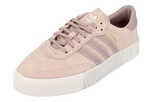 Adidas Originals Sambarose Mujeres Trainers Sneakers (UK 8.5 US 10 EU 42 2/3, SOFVIS White Gold Metallic EF1031)