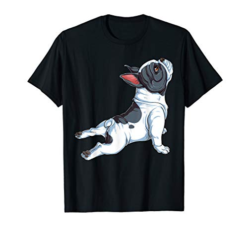 French Bulldog Yoga T shirt Frenchie Namaste Men Funny Gift T-Shirt