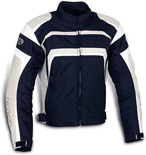 Jet Motorradjacke Motoradkleidung Herren Mit Protektoren Textil Wasserdicht Winddicht STRIKER (XS, Silber-Grau)