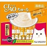 (まとめ)CIAO ちゅ~る とりささみ 海鮮ミックス味 14g×20本 (ペット用品・猫フード)【×16セット】 〈簡易梱包