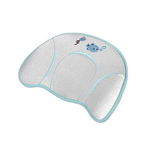 Baby Kissen Memory Foam, Babykissen Gegen Plattkopf und Verformung 0-12 Monate, Babykissen Anti Plattkopf und Kopfverformung