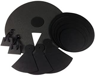 12 Piece DRUM PRACTICE PADS - Silent Black Foam Quiet 12-pcs Covers NEW SET [並行輸入品]