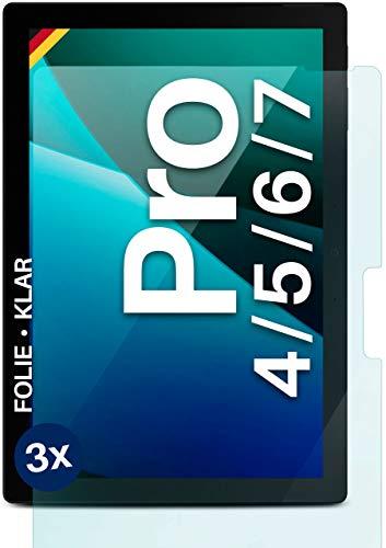 moex Klare Schutzfolie kompatibel mit Microsoft Surface Pro 4/5/6/7 - Bildschirmfolie kristallklar, HD Bildschirmschutz, dünne Kratzfeste Folie, 3X Stück
