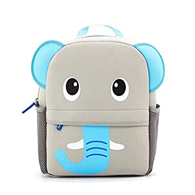 Toddler Backpack Waterproof Preschool Backpack 3D Cute Cartoon Neoprene Animal Schoolbag for Kids for 2-5 Years Boys Girls