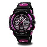 Girls Watch Age 10-12 for Gifts, Dark Purple Digital Sports Waterproof Watches...
