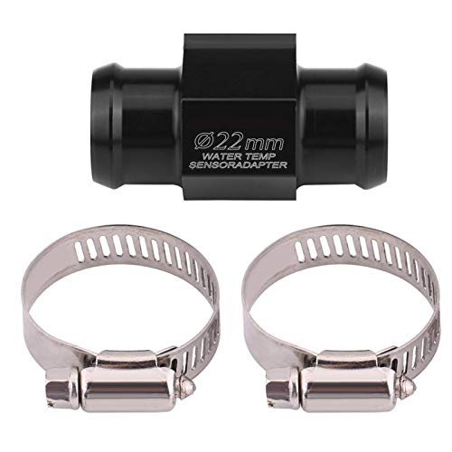 Water Temp Temperature Joint Pipe Hose Sensor Gauge Adapter for Universal Motorcycle (22mm)