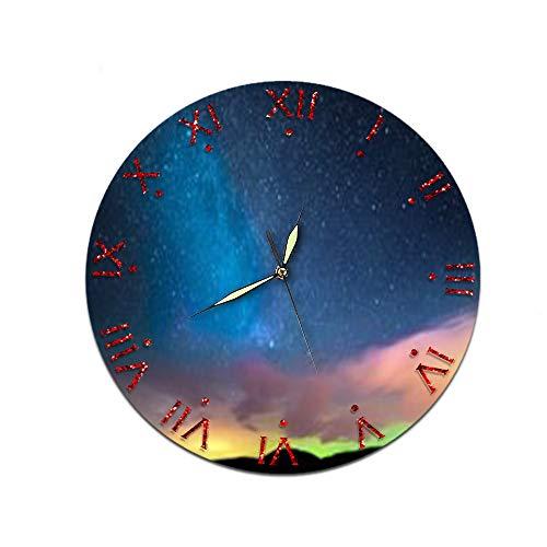 LUOYLYM Sternenhimmel Kreative Heimat Wanduhr Acryl Wanddekoration Uhr Stummschaltung Spiegel Uhr Zxca-006 28CM
