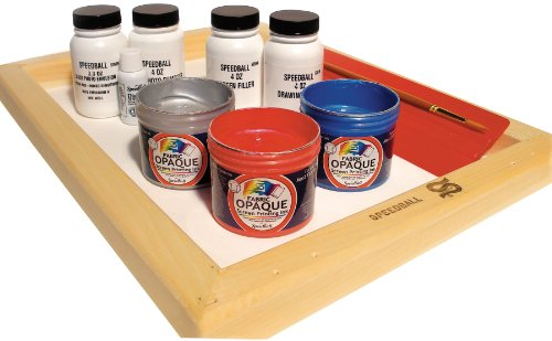 Speedball Super Value Opaque Fabric Screen Printing Kit (4519)