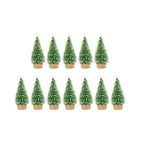 Mini Christmas Tree Sisal Silk On Cedar Pine Decorated Small Christmas Tree Gold Silver Blue Green White Mini Tree - Grass Green