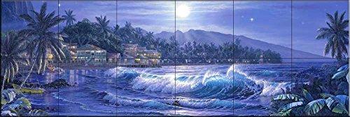 Fliesenwandbild - Mondn Bay- von Christian Riese Lassen - Küche Aufkantung/Bad Dusche