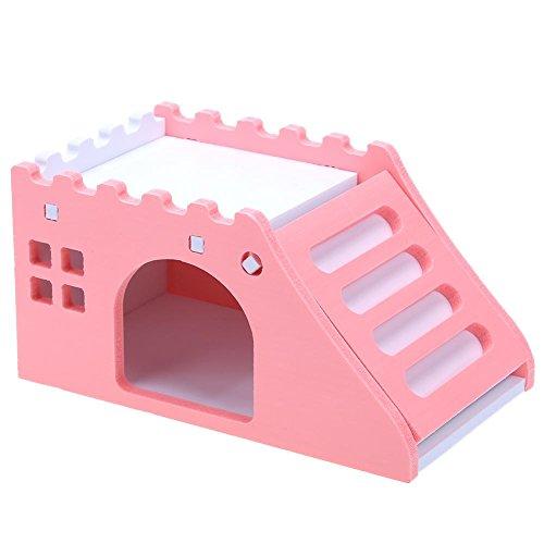 demiawaking Haus für Kleines Tier Maßstab Villa Nistkasten für Hamster/Kaninchen/Igel/Ratten/Work Haus für Haustiere Spielzeug von Klettern in Holz