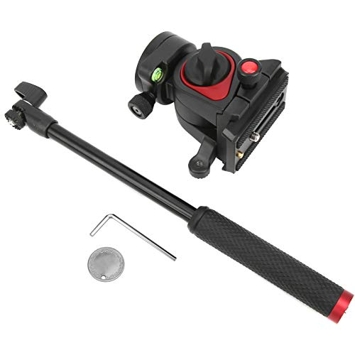 360パノラマ撮影油圧ダンピングボールヘッドライト油圧ボールヘッド+ 90°‑75°チルトシューティング、携帯電話、ミラーレスカメラ、一眼レフカメラ用