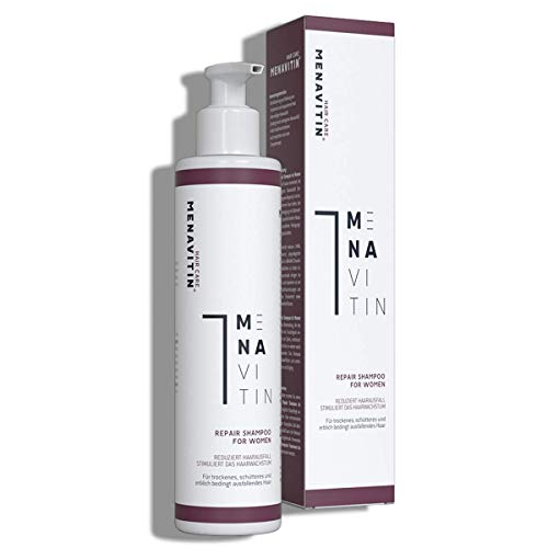 MENAVITIN Damen Shampoo gegen Haarausfall für fülliges und gesundes Haar - Repair Shampoo - Pflege Shampoo zur Anregung des Haarwachstums, dermatologisch getestet