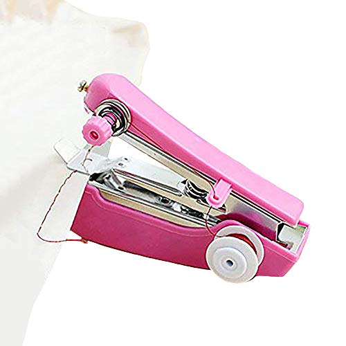 Zduang Scrapbooking Craft Mini Hand-held Sewing Machine Home Travel Use Portable Multi-Functional (Color Random)