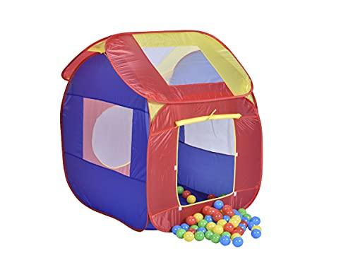 Mobiclinic, Tienda de campaña Infantil, Bolas Incluidas, Aventura, Plegable, Piscina de Bolas, Marca Española, Carpa de Tela para niños, Juguete Infantil, para Interior o Exterior, Multicolor