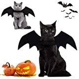 Brocarp Cat Bat Wings, Halloween Costumes Cat Clothes, Pet Apparel for Small Cats, Cute Kitten Costume Dress up Accessories for Festival Party Cosplay Decoration (Black)