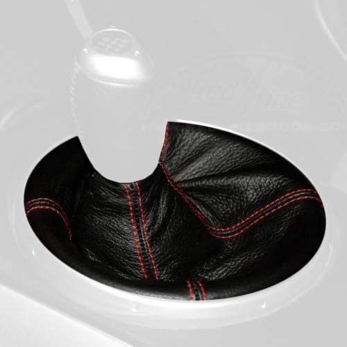 Black Leather-Black Thread Compatible with Mazda 3 2004-09 RedlineGoods Shift Boot AUTO