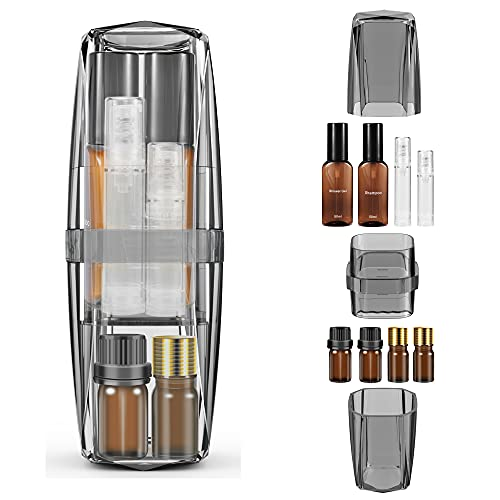 UTOTEBAG Travel Toothbrush Holder Portable Toothbrush Case & Cup Toiletry Kits Container with Travel Size Bottles, Travel Accessories Organizer for Business Trip, Camping, Dormitory, Gym(Grey)