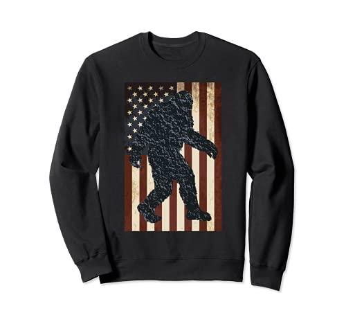 Vintage Bandera Americana Bigfoot Sudadera