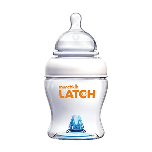 Munchkin Latch Anti-Colic Baby Bottle with Ultra Flexible Breast-like Nipple, BPA Free, 4 Ounce