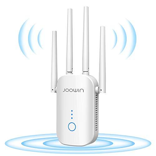 JOOWIN WLAN Verstärker 1200 Mbit/s WLAN Amplifier 2,4GHz und 5GHz Dual Band WLAN Repeater 4 in 1-Modus AP/Repeater/Router/Client, LAN/WAN Port