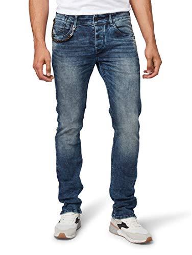 TOM TAILOR Herren Jeanshosen Troy Slim Jeans mid Stone wash Denim,33/32