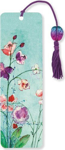 Fuchsia Blooms Beaded Bookmark by Peter Pauper Press (2014-02-20)