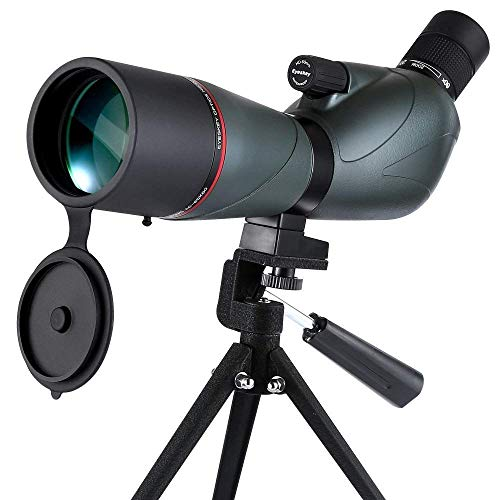 Review Of Eyeskey 20-60x60 BAK4 Porro Prism Spotting Scope HD Optical Monocular Telescope Waterproof...