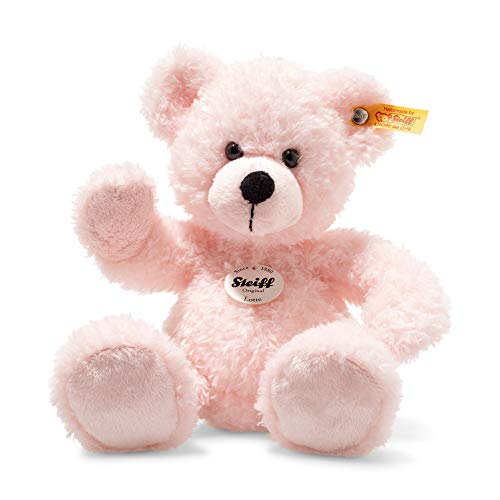 Steiff 113819 Teddybär, rosa, 28 cm