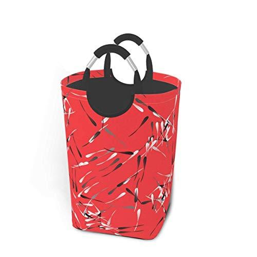 N\A Cesto de lavandería con geometría Abstracta, cesto de Lavado Plegable, Bolsa de lavandería universitaria portátil con Asas para llevarlo fácilmente