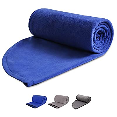 """REDCAMP Fleece Sleeping Bag Liner for Adult Warm or Cold Weather, 75""""/87"""" Long Full Sized Zipper Camping Blanket for Outdoor Indoor Used with Sack"""