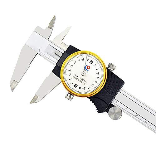 ZDAMN Pie de Rey Instrumento de medición del calibrador Tabla 0-150x0.02mm de medición de Acero Inoxidable Pie de Rey Calibrador Digital (Color : Plata, tamaño : 300MM)