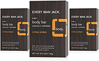 Every Man Jack Men's 2-in-1 Body Bar - Citrus | 6.0-ounce Twin Pack - 2 Bars Included | Naturally Derived, Parabens-free, ...