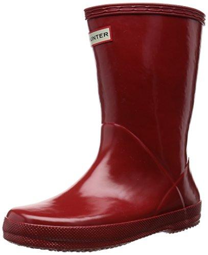 Hunter Classic Regenstiefel, Unisex, für Kinder, - Rot (Military Red) - Größe: 17 EU