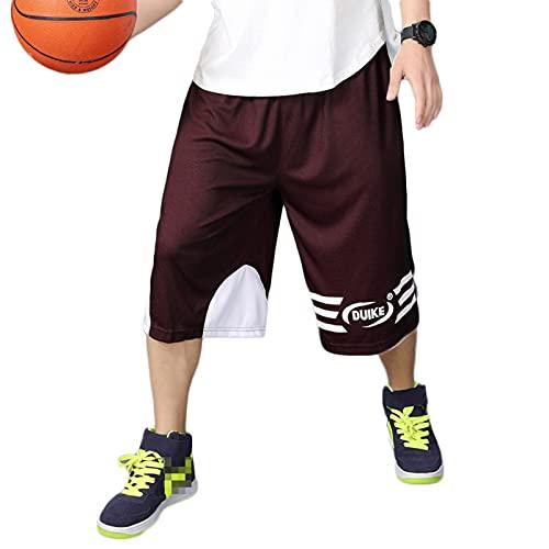 YUEMO Pantalones cortos de baloncesto de la NBA para hombre, de verano, 3/4, 7, XXL