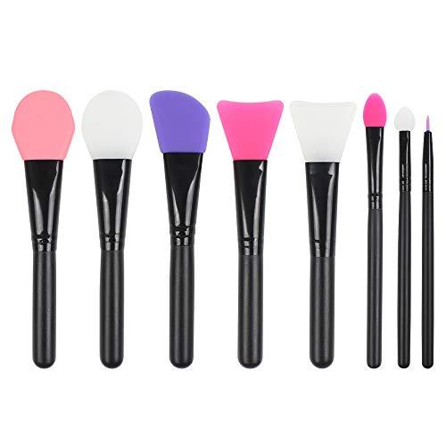 Jubaopen 8 Stück Gesichtsmaske Pinsel Silikon Kosmetische Schlamm Maske Pinsel Maske Applikator Gesichtspflege Makeup Tools für die Gesichtsmaske, Augenmaske (Schwarz)