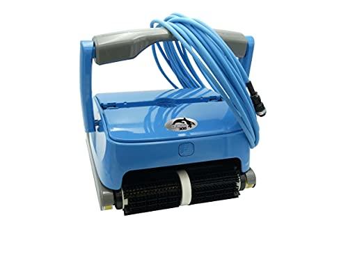 EDENEA Orca 300 - Robot Piscine Electrique - Nettoyage Fond + Paroi + Ligne d'eau - Autonome - Compatible Tout Revêtement - Double Panier De Filtration Accessible par Le Dessus