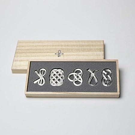 能作 箸置 - 結び - 5ヶ入 〔錫100%〕 501712
