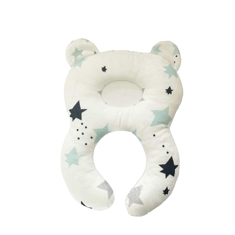 Toddler Travel Headrest - Organic Cotton Infant Head, Neck & Shoulder Support Baby Travel Pillow for Stroller, Head Support Best Gift for Toddlers (2M-4Y)