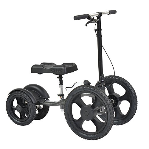 Drive Medical All Terrain Knee Walker and Knee Scooter, Crutch Alternative, Silver Vein
