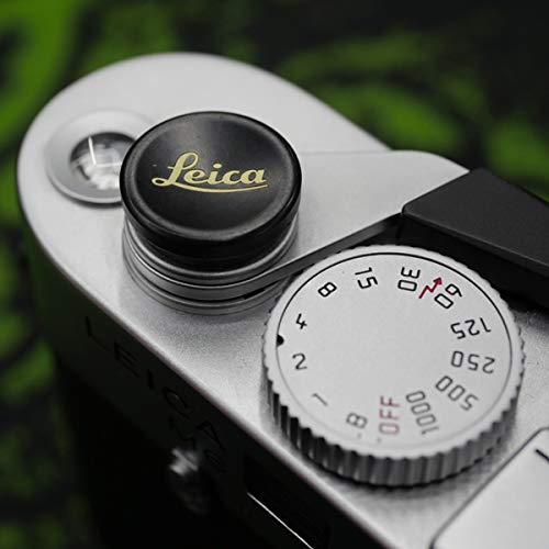 PEIPRO Metal Brass Gold Concave Shutter Release Button 12mm for Leica M10, M240, M-P, ME、MM,M9P.M9.M8.MP.M7.M6.M5.M2,M1 -XS104