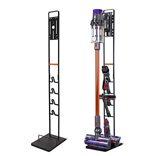 Vacuum Stand for Dyson V11 V10 V8 V7 V6 - Vacuum Accessories Stable Metal Organizer Stand Holder, Dyson Handheld DC30 DC31 DC34 DC35 DC58 DC59 DC62 Cordless Vacuum Cleaners Storage Rack (Black)