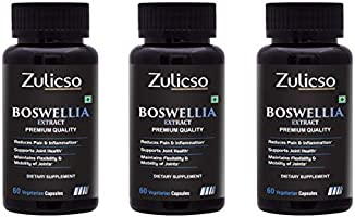 Zulicso Boswellia Serrata Extract (Shallaki) 65% Boswellic Acid 500 mg | Supports Healthy Joint | Maintains Joints...