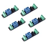 Songhe 1 Channel DC 3V Relay High Level Driver Module Optocoupler Relay Module Isolated Drive Control Board for Arduino (Pack of 5)